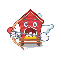 Cupid chicken coop isolated in mascot vector