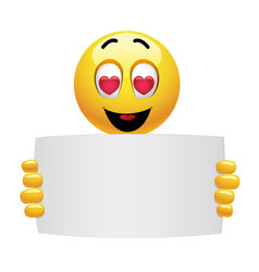 cute smiley emoji being in love beautiful vector image