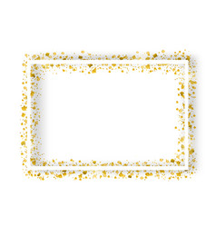 decorative square frame with glitter tinsel of vector image