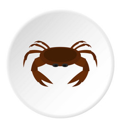 Edible brown crab icon circle vector