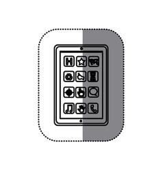 Figure symbol picture shelving icon vector