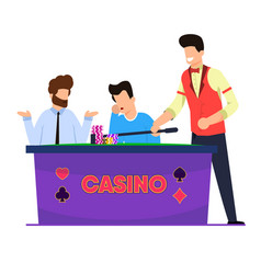 flat casino roulette game vector image