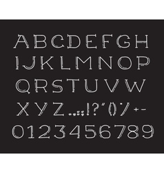 Hand drawin alphabet handwritting abc font vector image