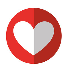 Heart love isolated icon vector