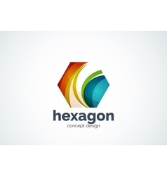 Hexagon logo template cell concept vector