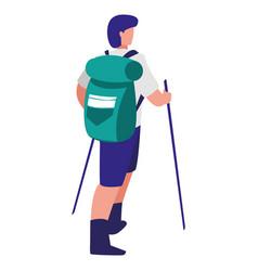 hiking man design vector image