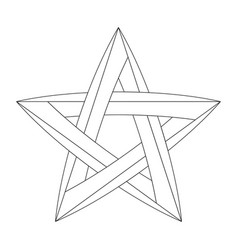 Impossible star for your project icon or logo vector