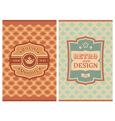 Invitation vintage retro cards vector image