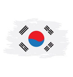 isolated south korean flag vector image