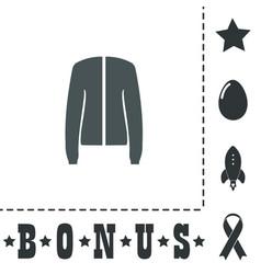 Jacket flat icon vector
