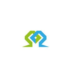 labyrinth technology symbol for logo design vector image