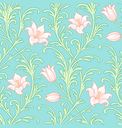 Lily flowers pattern vector