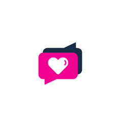 Love testimonial logo icon design vector