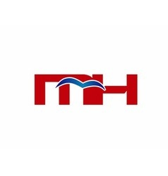 M and H logo vector