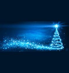 Magic christmas tree glittering vector