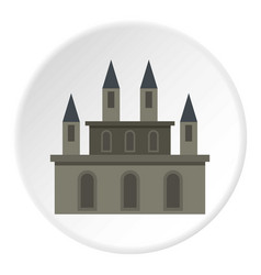 medieval castle icon circle vector image