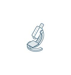 microscope isometric icon 3d line art technical vector image