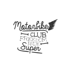 Motorbike Club Vintage Emblem vector
