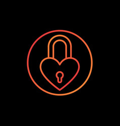 Padlock in heart shape concept colorful vector