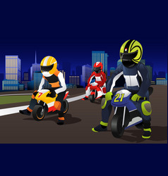 people riding motorcycle vector image