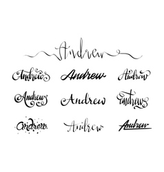 Personal name tattoo Andrew vector image