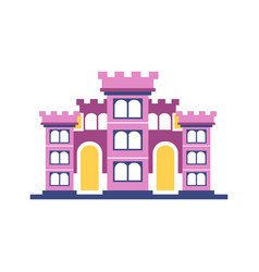 Pink majestic palace building vector