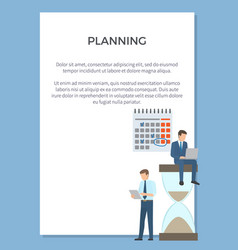 Planning visualization poster vector