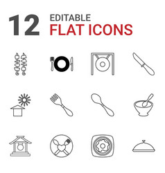 plate icons vector image