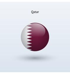 Qatar round flag vector
