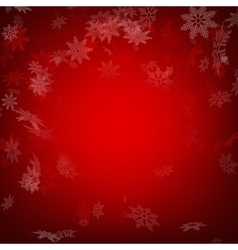 Red christmas background with snowflakes EPS 10 vector