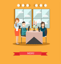 restaurant guests in flat vector image