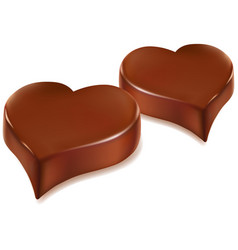 romantic couple of chocolate heart candy vector image
