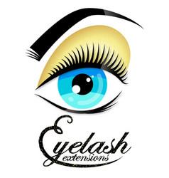 Salon eyelashes and eyebrows design vector