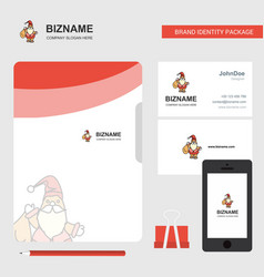 santa clause business logo file cover visiting vector image