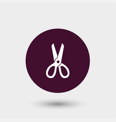 scissors icon simple barbershop vector image