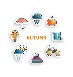 set autumn icon vector image