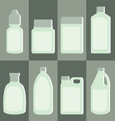 Set of medicine bottle vector image
