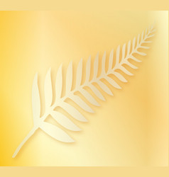 silver fern of new zealand background vector image