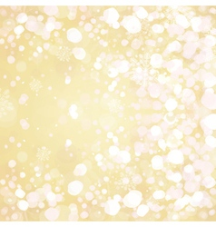 Snow on golden background vector
