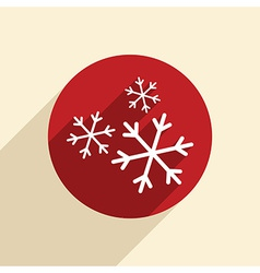 snowflake the weather icon vector image