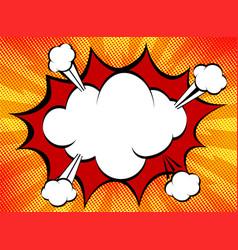 speech explosion bubble collision pop-art style vector image