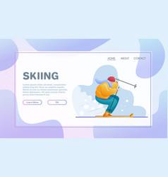 sport activities flat vector image