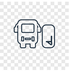 station concept linear icon isolated on vector image