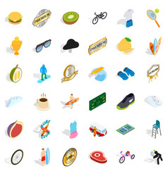 success icons set isometric style vector image