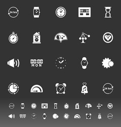 Time related icons on gray background vector image