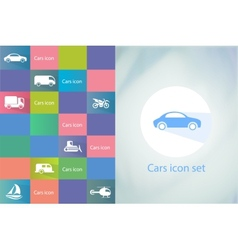 Transports icon set Car icons set vector image