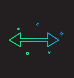 Two way icon design vector