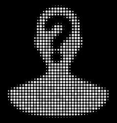 Unknown person halftone icon vector
