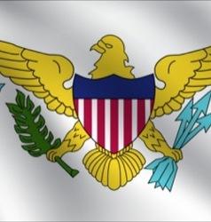 Virgin Islands US flag vector