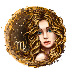 virgo is a sign zodiac vector image